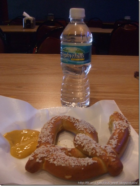 Pretzel and water