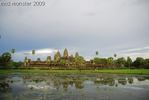 Angkor glowing in the late afternoon