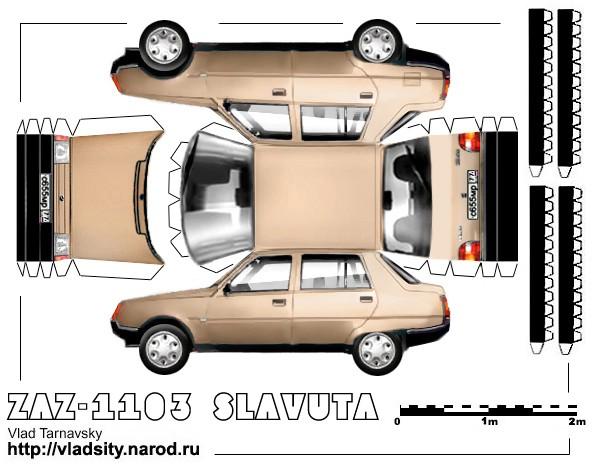 Модели автомобилей своими руками из бумаги