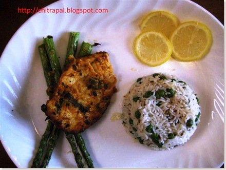 Chitra Pal Grilled Chicken with Rice