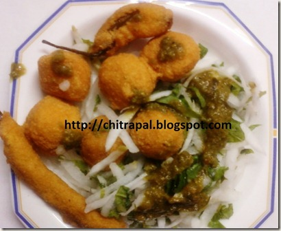 Chitra Pal Mung Daal Pakoras Green Gram Fritters