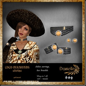 DANIELLE Coco Diamonds citrine