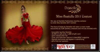Miss Danielle 2011 ad'