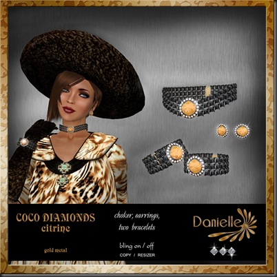 DANIELLE Coco Diamonds citrine'