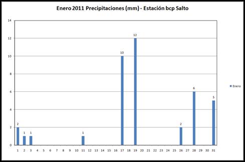 Precipitaciones (Enero 2011)