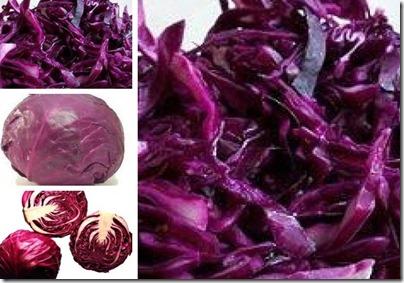 Salada de Repolho roxo com especiarias