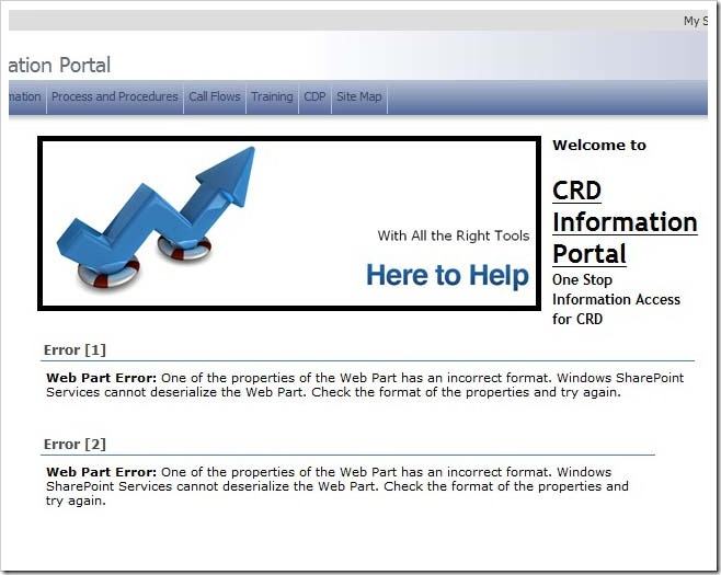 WebPart Error