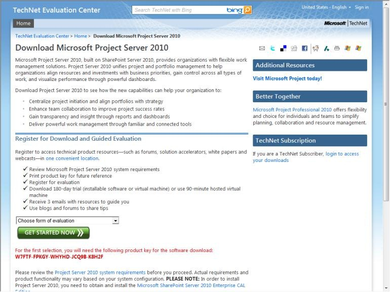 microsoft project download trial version 2010