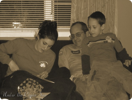 jeanne reads her bd card sepia