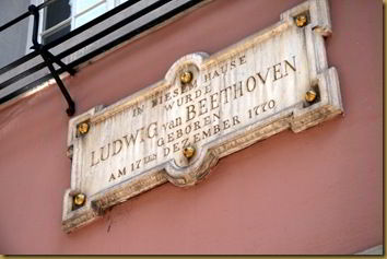 In case you can't read this, it says that Beethoven was born here. Culture, tick.