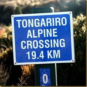 Sign at start of Tongariro Alpine Crossing