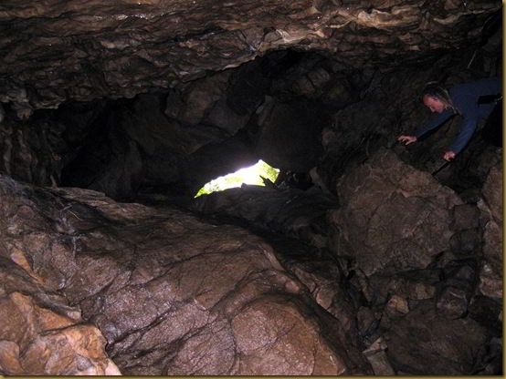 Cave entrance and exit and me