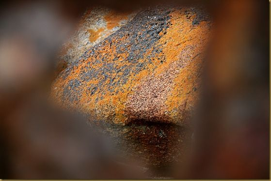Rusted metal reverse focus