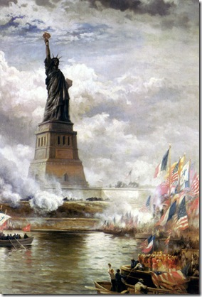 EdwardMoran-UnveilingTheStatueofLiberty1886