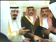 خادم الحرمين الشريفين يكرم  مهند أبو دية علي انجازاته