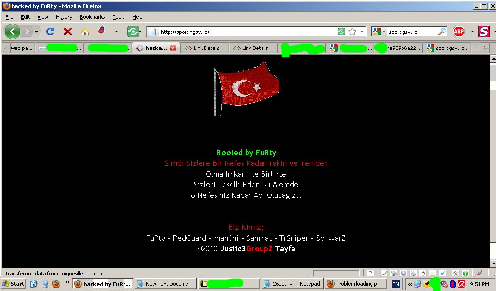 sportingsv.ro hacked