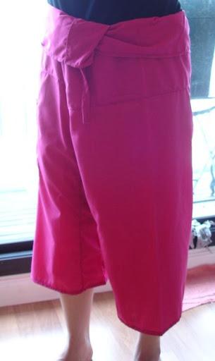 กางเกงเลสีพื้น ขาสั้น 02