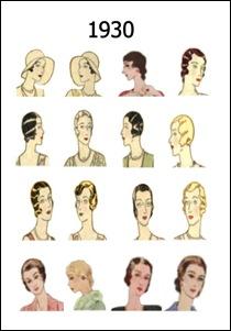 Trender gjennom tidene: 1930  1940 hr og make up - 1930 Hairstyles