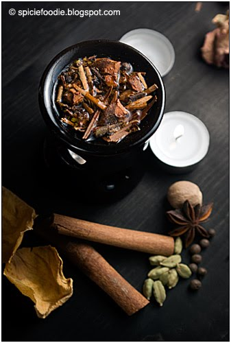 burn potpourri in pot