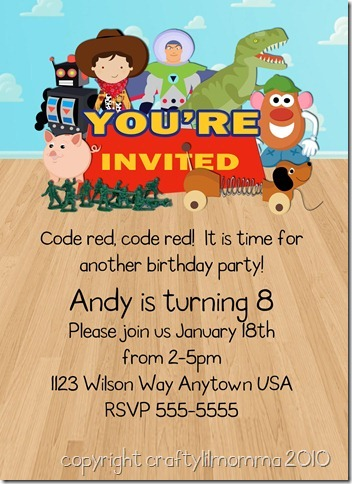 toy store invite