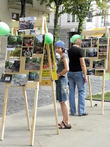 Фотовыставка Зелёного Фронта в Саду Шевченко.