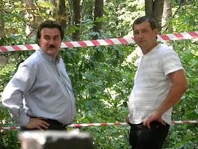 """Директор фирмы-подрядчика """"Паркинг Плюс"""" Игорь Жданюк (слева) в отличном расположении духа"""