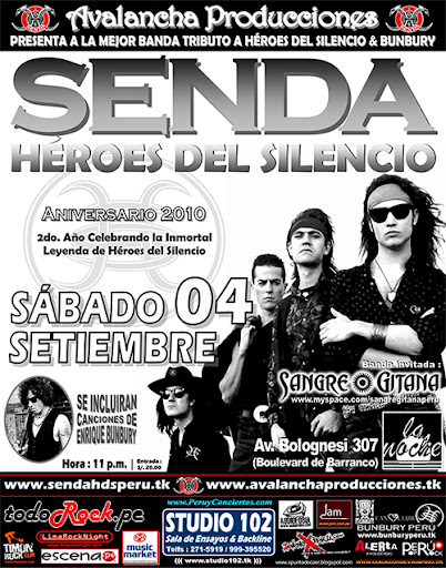 Tributo a Heroes del Silencio - Senda Perú