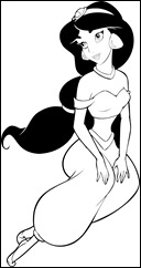 colorear jasmine-13