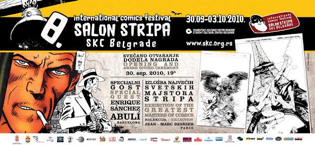 Plakat 8. međunarodnog salona stripa, SKC, Beograd