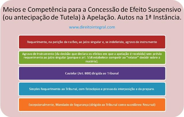 Meios e Competência paa a Concessão de Efeito Suspensivo ou Antecipação de Tutela à Apelação Enquanto os Autos Estiverem na Primeira Instância