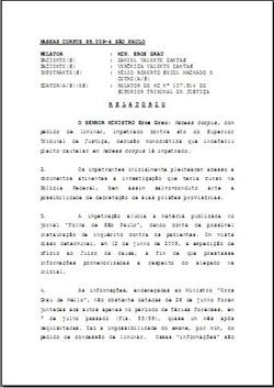 Relatório e Voto do Eminente Relator, o Senhor Ministro Eros Grau, no HC 95009