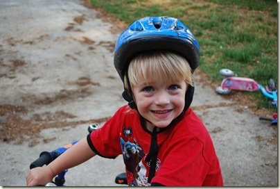 Ryan riding his bike