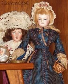 Antique bisque doll Jumeau French Fashion Lanternier Limoges France Lorraine Lady Brittany 1870s 1900s