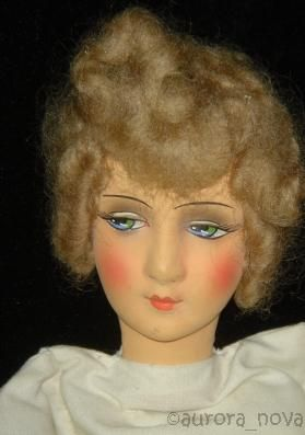 Boudoir doll papier-mch head flapper dolls 1920s