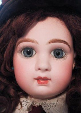 Antique bisque doll Tete Jumeau closed mouth