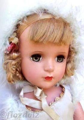 Babs skater Madame Alexander doll 1950s