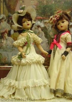 Madame Alexander Portrait Doll Melanie Lady Windermere Windemere 1940s composition doll Ritz Garden Café 1904 print Pierre-Georges Jeanniot