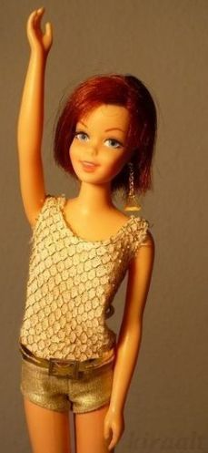 Mattel Barbie doll Casey Francie oxidized hair 1960s