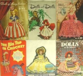 Dress-me doll crochet pattern American Thread DMC Big Top in Crochet Dorothy Lamour Betty Hutton Greatest Show on Earth 1950s