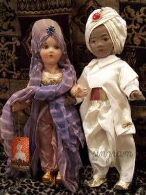 Mollye Goldman Mollyes doll Maid in Waiting Sabu Thief of Bagdad 1940s
