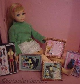 Mattel Barbie doll Skipper TNT Twist n Turn Lots of Lace Ken 1960s 1970s Rebecca Brosdahl miniatures