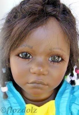 Annette Himstedt doll Mattel Barefoot Children Ayoka 1980s