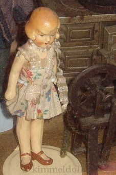 Bisque flapper dollhouse doll German 1920s 1930s
