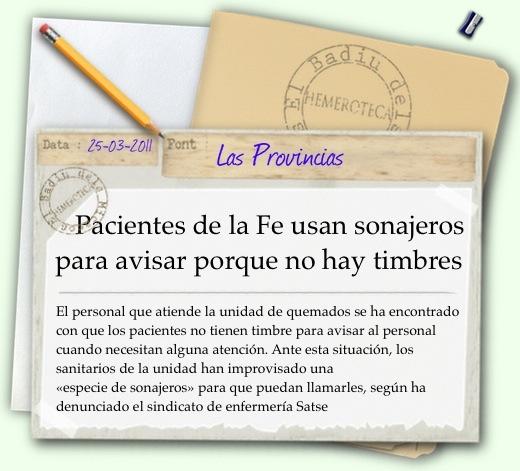Notícia Las Provincias
