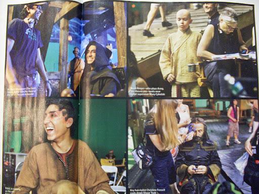 Cuatro fotos nuevas en el Set de The Last Airbender