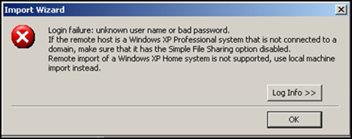 P2Ving an XP Desktop? Turn off Simple File Sharing