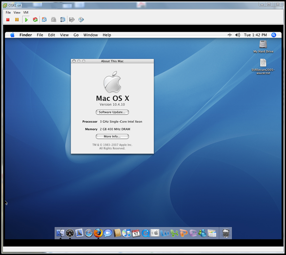 MAC OS on vSphere! Thanks to IDE support!