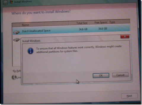 Creating a Windows 2008 R2 Server without that pesky 100 MB System Reserved Partition.