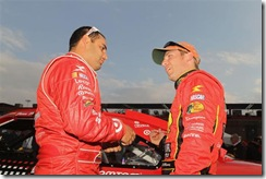 2010 Auto Club Feb NSCS Juan Pablo Montoya and Jamie McMurray qualifying