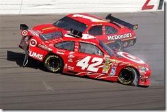 2010 Las Vegas NSCS Juan Pablo Montoya Jamie McMurray accident